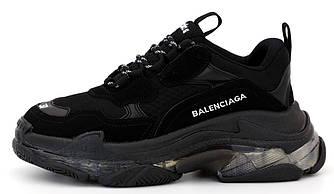 Женские кроссовки Balenciaga Triple S Clore 'black' (Premium-class) черные