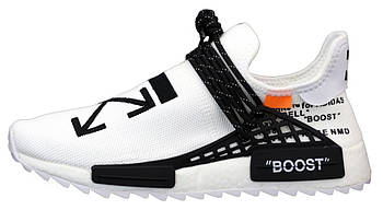 Мужскиекроссовки adidas NMD x Off-white (Premium-class) белые