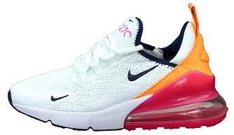 Женские кроссовки Nike Air Max 270 (Premium-class) белые
