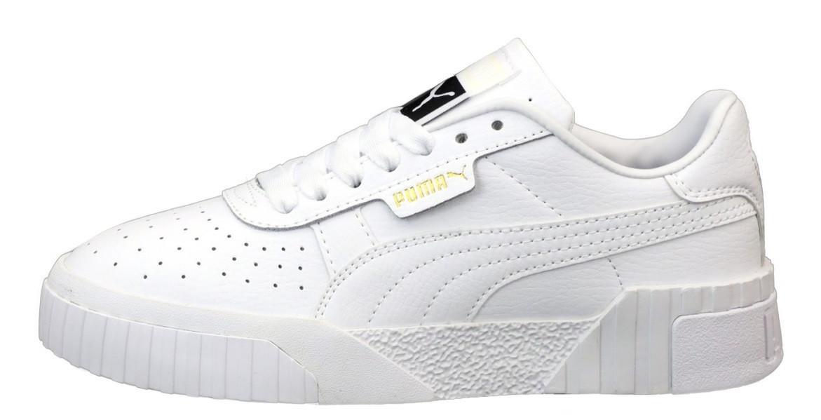 Мужские кроссовки Puma Cali 'Black/White'  (Premium-class) белые