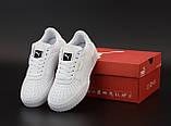 Мужские кроссовки Puma Cali 'Black/White'  (Premium-class) белые, фото 2