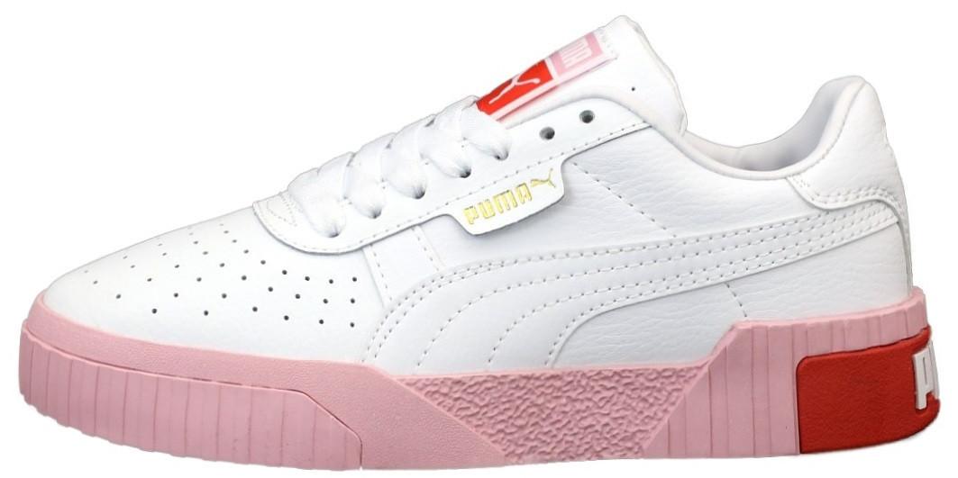 Жіночі кросівки Puma Cali (Premium-class) біло-рожеві