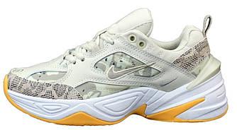 Женские кроссовки Nike M2K Tekno (Premium-class) бежевые