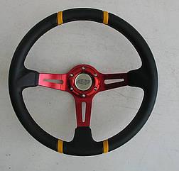 Спортивный руль ASP красный виниловый для авто