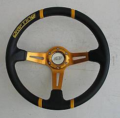 Спортивный руль ASP Drifting желтый виниловый для авто