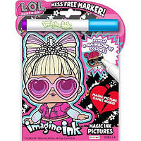 ЛОЛ Волшебный маркер и блокнот-раскраска L.O.L. Surprise Official Imagine Ink Mess Free Game Book