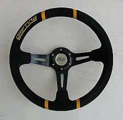 Спортивный руль ASP Drifting черный замшевый для авто