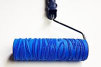 Валик с ручкой структурный резиновый кора дерева 60х180мм эффект коры дерева для краски и шпаклёвки