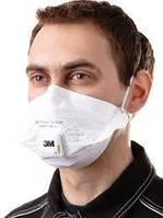 Противовирусный Респиратор, маска защитная  FFP2 3M 9162. упаковка 15 шт. Качественный и надёжный.