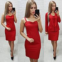 Классическое платье на брительках , красное, арт 190