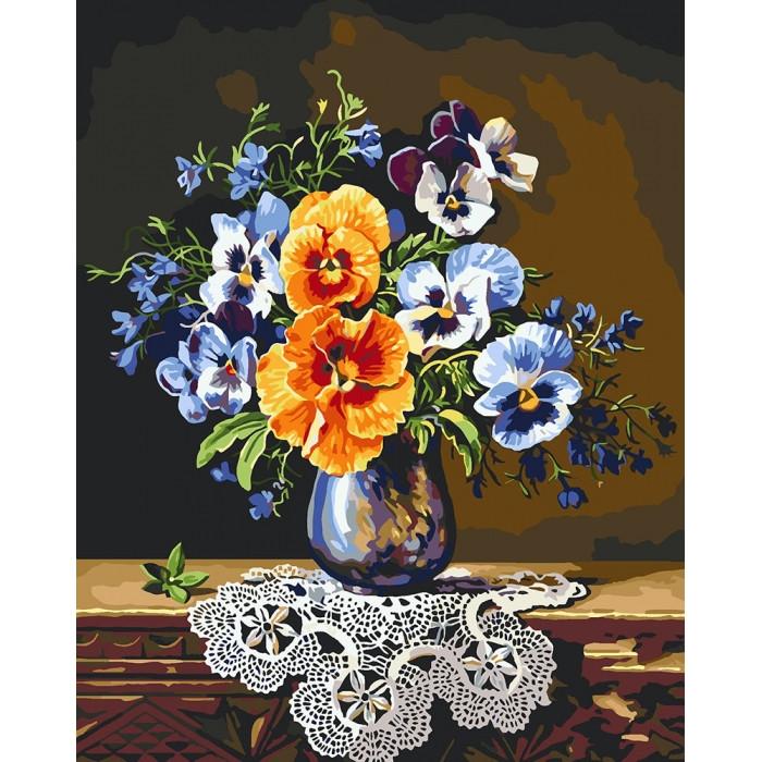 Картина по номерам Идейка - Яркие анютины глазки 40x50 см (КНО3043)