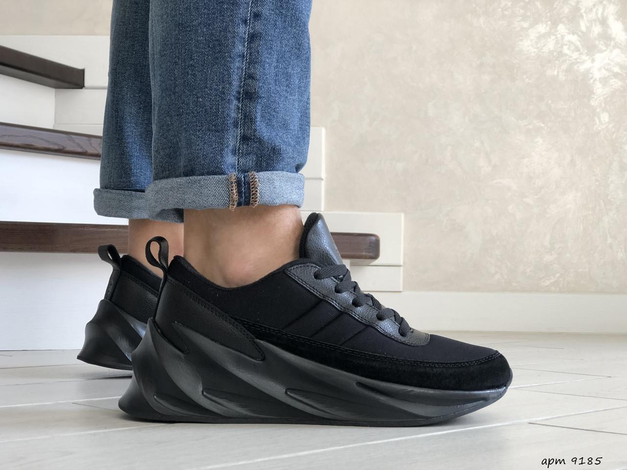 Мужские кроссовки Adidas Sharks (черные) 9185