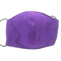 Защитная маска для лица многоразовая трехслойная Mark I Фиолетовая