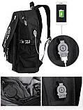 Светящийся городской рюкзак Senkey&Style школьный портфель с мальчиком черный  Код 10-7138, фото 10