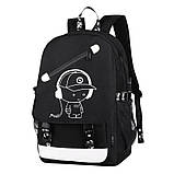 Светящийся городской рюкзак Senkey&Style школьный портфель с мальчиком серый  Код 10-7144, фото 9