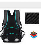 Светящийся городской рюкзак Senkey&Style школьный портфель с мальчиком черный  Код 10-7182, фото 9