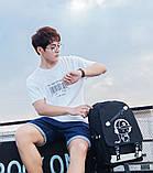 Светящийся городской рюкзак Senkey&Style школьный портфель с мальчиком черный  Код 10-7197, фото 6