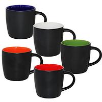 Чашка черная цилиндр 330мл
