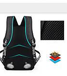 Светящийся городской рюкзак Senkey&Style школьный портфель с мальчиком черный  Код 10-7208, фото 9