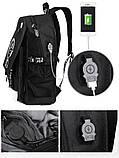 Светящийся городской рюкзак Senkey&Style школьный портфель с мальчиком черный  Код 10-7252, фото 10