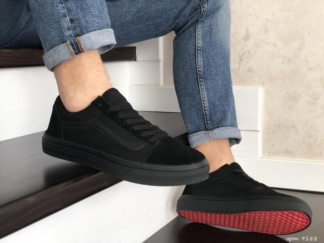 Мужские кроссовки Vans (черные) 9188