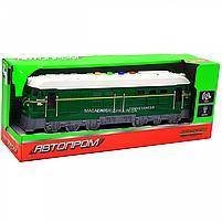 Поїзд Автопром зелений, пластик, 35 см (звук, світло) 7792B, фото 2