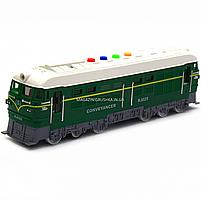 Поїзд Автопром зелений, пластик, 35 см (звук, світло) 7792B, фото 3