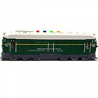 Поїзд Автопром зелений, пластик, 35 см (звук, світло) 7792B, фото 4