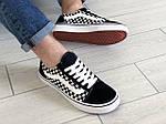Мужские кроссовки Vans (черно-белые) 9189, фото 2