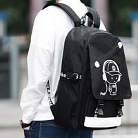 Светящийся городской рюкзак Senkey&Style школьный портфель с мальчиком черный Код 10-7125