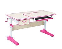 Парта трансформер растущая 100х60 см для девочки 5 - 15 лет ТМ Cubby Imparare Pink (1+1)