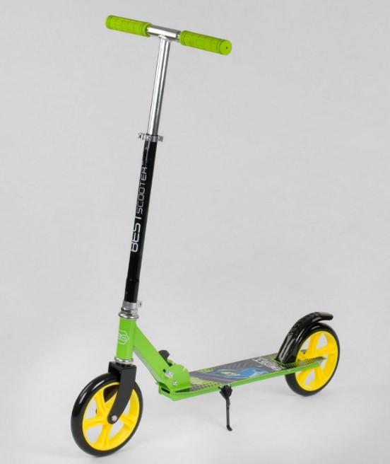 Самокат детский двухколесный для мальчика девочки 5 6 7 лет Best Scooter 53396 салатовый