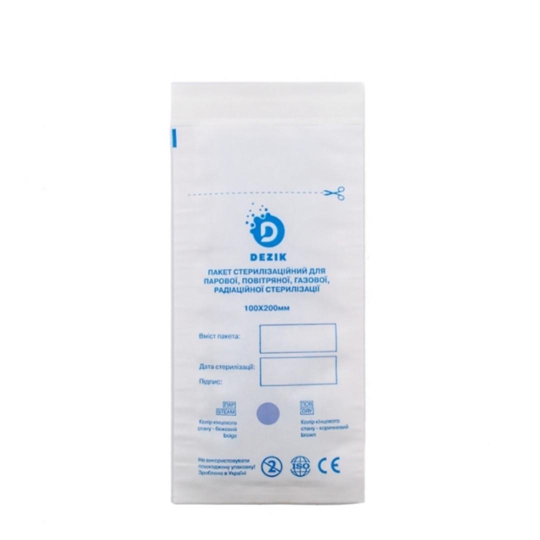 Крафт-пакеты для стерилизации Dezik, 100 шт, 100/200
