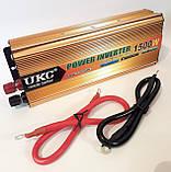 Инвертор UKC 1500W 24V Преобразователь тока AC/DC Gold 24V в 220V, фото 2