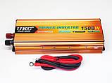 Инвертор UKC 1500W 24V Преобразователь тока AC/DC Gold 24V в 220V, фото 4