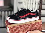 Жіночі кросівки Vans (чорно-червоні) 9195, фото 3