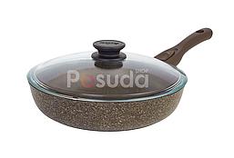 Сковорода Биол Граніт браун з антипригарним покриттям і знімною ручкою 24133ПС