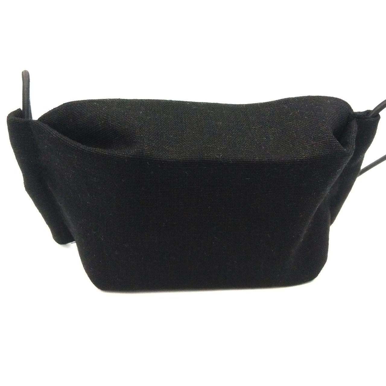 Захисна маска для обличчя багаторазова тришарова Mark II Чорна