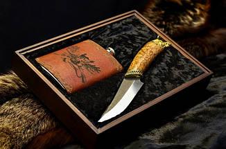 """Ножевой подарочный набор для охотника """"Royal Hunt"""" - с авторским ножом и флягой в футляре, фото 2"""