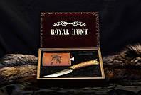 """Ножевой подарочный набор для охотника """"Royal Hunt"""" - с авторским ножом и флягой в футляре"""