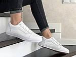 Жіночі кросівки Vans (білі) 9197, фото 3