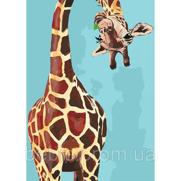 "Картина по номерам ""Весёлый жираф"" 35*50 см"