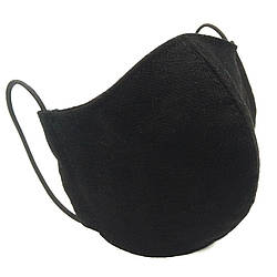 Защитная маска для лица многоразовая трехслойная Mark I Черная