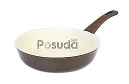 Сковорода з антипригарним покриттям Біол Класик декор з бакелітовою ручкою 24 см 24077П