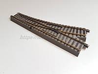 Рельсовый материал Roco Geoline 61140, Стрелка прямая левая, масштаба 1/87, Н0