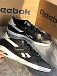 Мужские черные кроссовки reebok оригинал натуральная кожа, фото 6