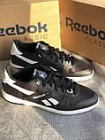 Мужские черные кроссовки reebok оригинал натуральная кожа, фото 7