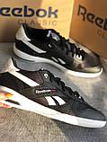 Мужские черные кроссовки reebok оригинал натуральная кожа, фото 4