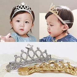 """Повязка-корона оптом для девочки """"Crown"""" на голову."""