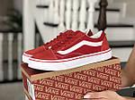 Женские кроссовки Vans (красные) 9200, фото 2
